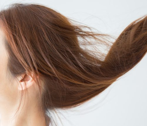 女性の髪の画像